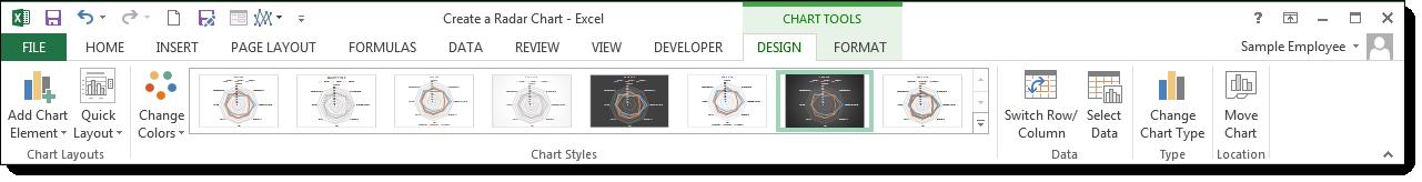 Create a Radar Chart - image 5