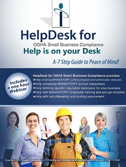HelpDesk for OSHA Small Business - osha requirements for small business