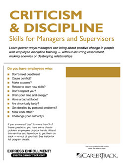 Employee Discipline Training: Criticism & Discipline Skills for Managers and Supervisors