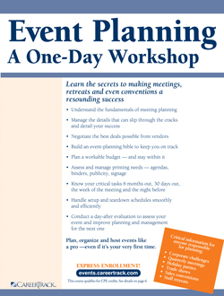 Event Planning : A One-Day Workshop - Event Planning Course