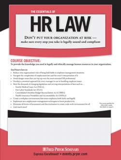 HR Law Training Seminar: The Essentials of HR Law