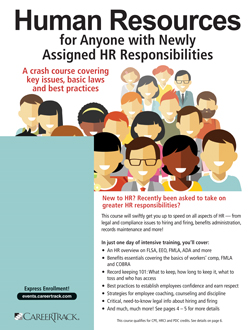 HR Basics Training: Human Resources for Anyone with Newly Assigned HR Responsibilities