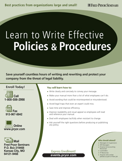 How to Write Clear & Concise Policies and Procedures