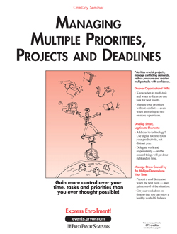 Managing Multiple Priorities, Projects & Deadlines - Time Management Training