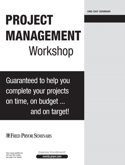 Project Management Workshop - A Project Management Seminar