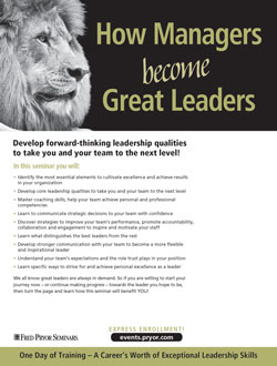 How Managers Become Great Leaders