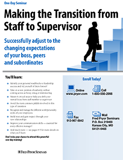 New Supervisor Training Seminar: Making the Transition from Staff to Supervisor
