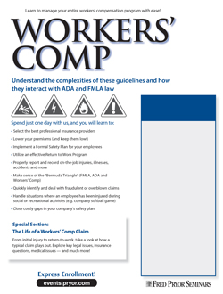 Workers' Compensation Training brochure