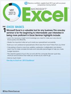 Microsoft® Excel® 2013 Basics