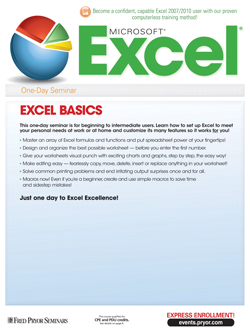 Basic Microsoft Excel 2007 & 2010 Training for beginners