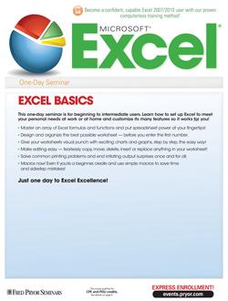 Microsoft® Excel® 2007/2010 Basics