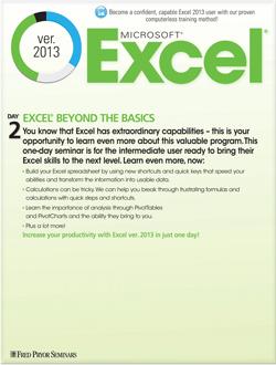 Microsoft® Excel® 2013: Beyond the Basics